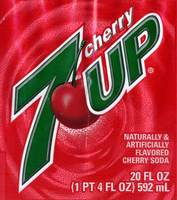 Cherry 7 UP - 20 FL OZ (1 PT 4 FL OZ) 592 mL