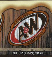 A & W Root Beer - 20 FL OZ (1.25 PT) 591 mL