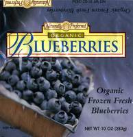 Naturally Preferred - Organic Frozen Fresh Blueberries - 10 OZ (283g)